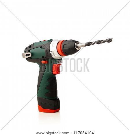 cordless drill isolated on white