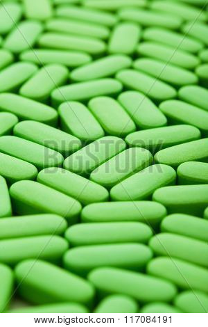 nutrition supplements, green vitamin pills