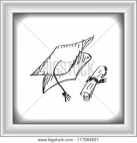 Simple Doodle Of A Mortar Board