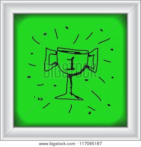 Simple Doodle Of A Trophy