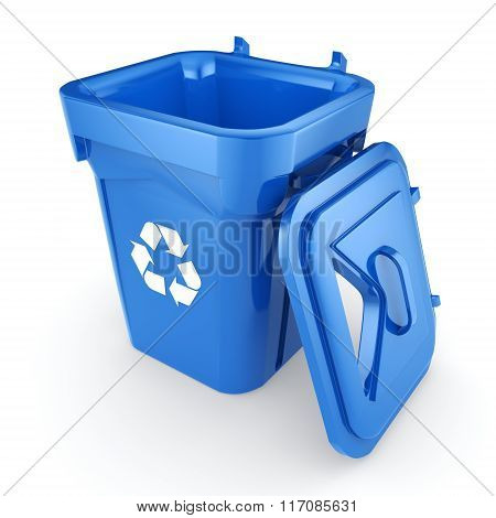 Blue Recycling Bin