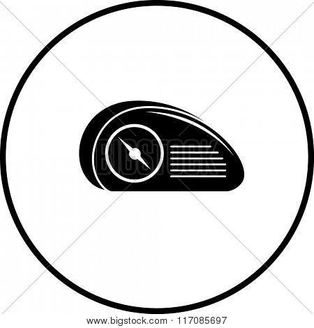 vintage radio symbol