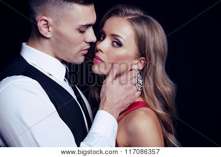 sexy impassioned couple
