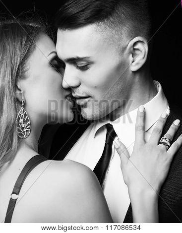 sexy impassioned couple