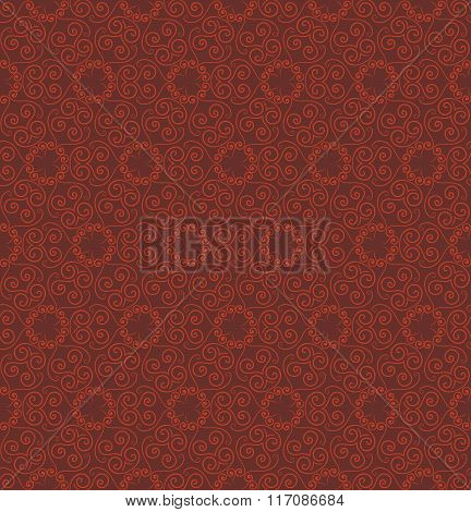 Abstract red seamless hand-drawn pattern.