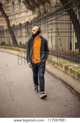 Urban man walking