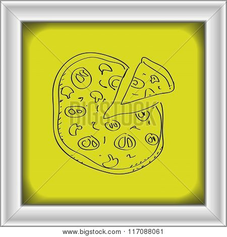 Simple Doodle Of A Pizza
