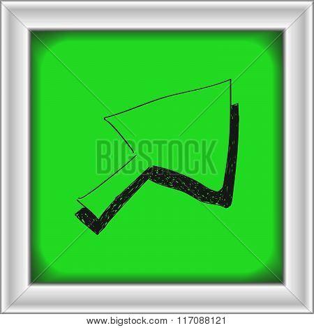 Simple Doodle Of A Cursor Arrow
