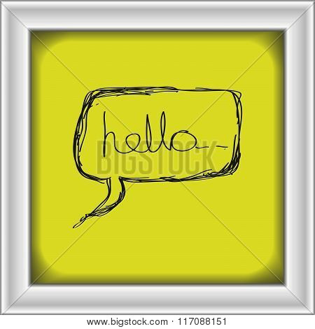 Simple Doodle Of A Hello