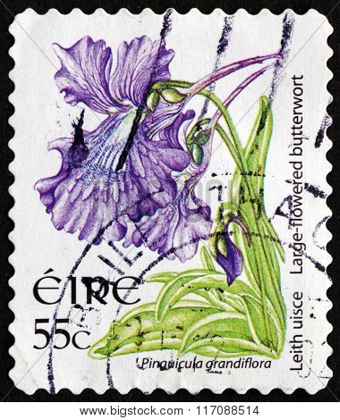 Postage Stamp Ireland 2007 Large-flowered Butterwort, Carnivorous Plant
