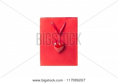 Red Love Bag With A Beautiful Heart For Valentine's Day