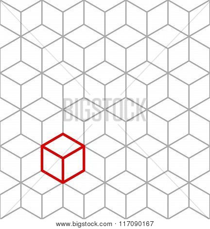 Seamless isometric cubes background