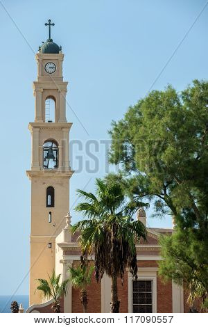 Saint Peter's church in old town of Jaffa Tel Aviv Israel