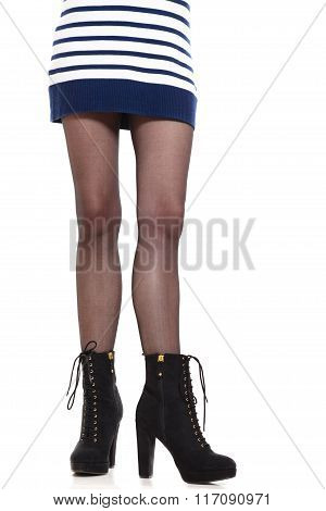 Attractive Woman Legs In Boots