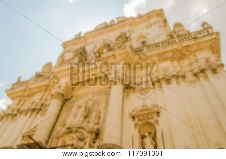 Defocused Background With Church Of Saint John The Baptist, Lecce