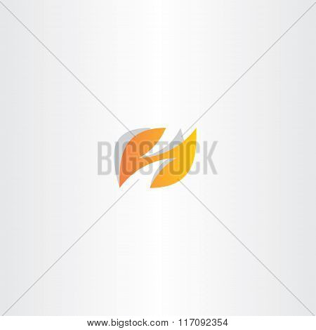 Letter H Logo H Vector Orange Logotype