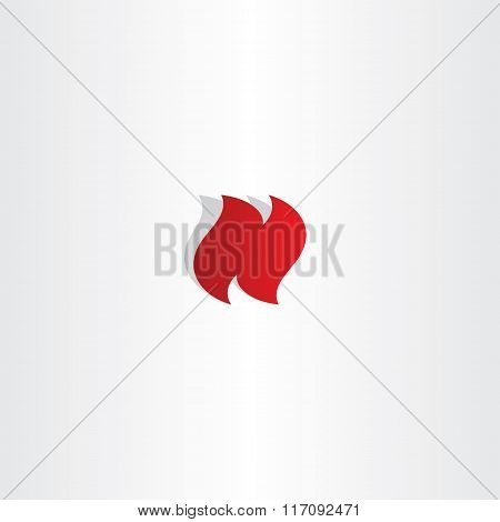 Logo N Letter N Logotype Vector Red Icon