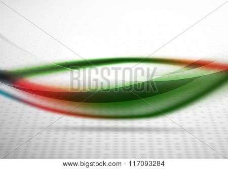 Colorful wave line, abstract background with light and shadow effects