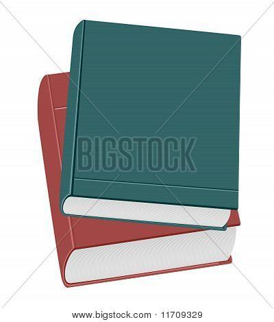 Ralistic Illustration Two Books