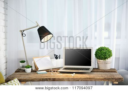 Modern workplace at home