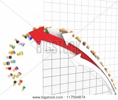 Cartoon Crowd, Line Graph Fall