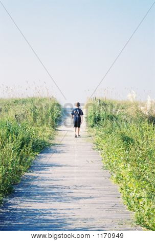 Boy On Path