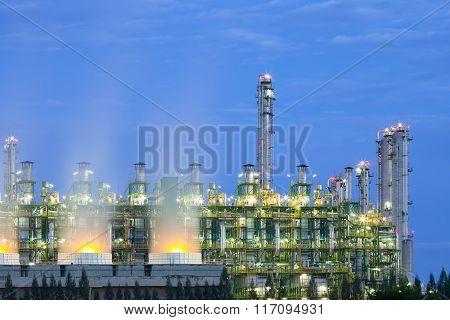 Industry Plant Twilight