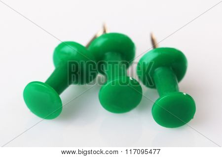 Group of push-pins, isolated on white