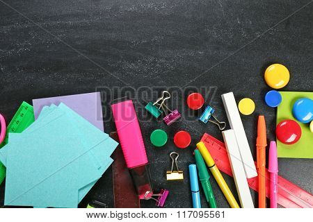 Frame of stationery on black background