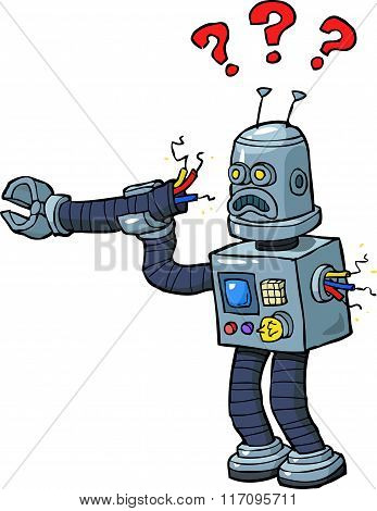Cartoon Broken Robot