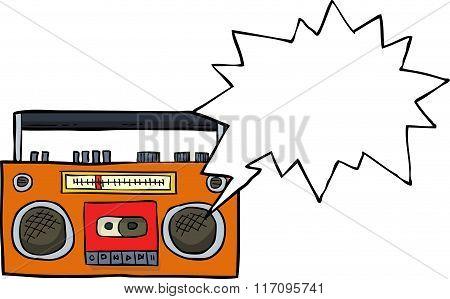 Cartoon Cassette Player