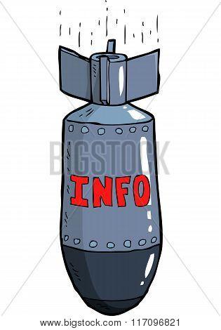 Cartoon Information Bomb