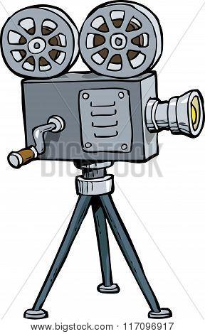 Cartoon Old Projector