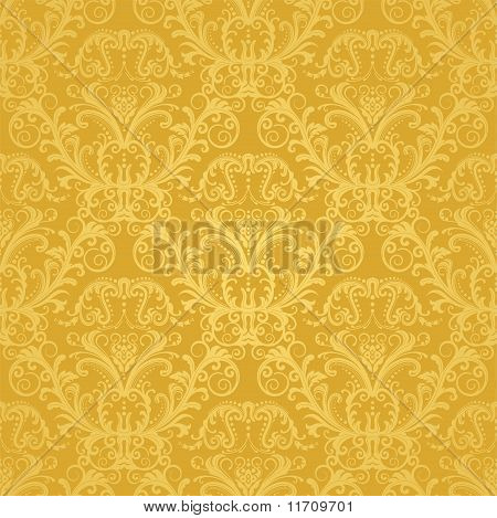 Luxury Seamless Golden Floral Wallpaper.eps