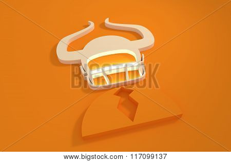 Businessman 3D Icon With American Football Helmet