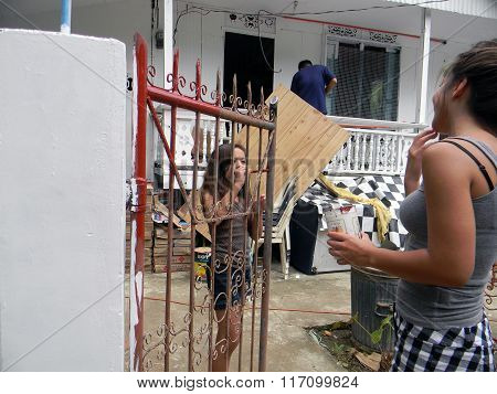 Painting a Fence in the Philippines