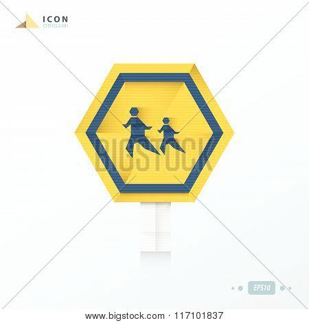 Across The Street Origami Icon Design
