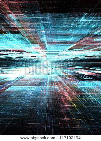Technology Background Digitally Generated Image