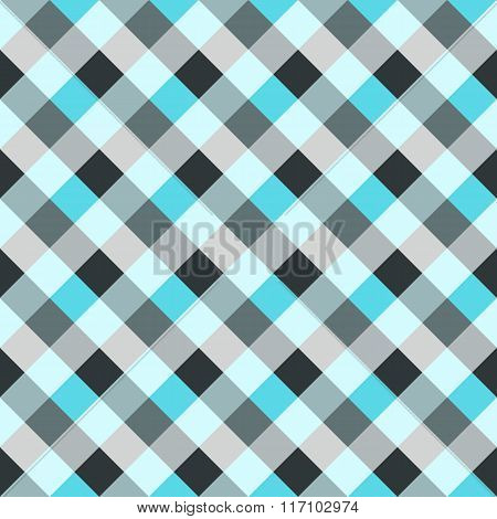 Seamless geometric checked pattern. Diagonal square, woven line background. Patchwork, rhombus, stag