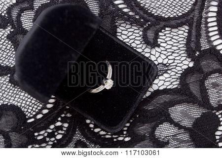 Ring In Velvet Box