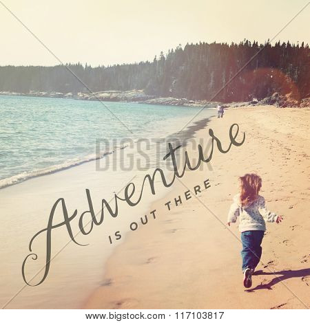 Inspirational Typographic Quote - Adventure is out there