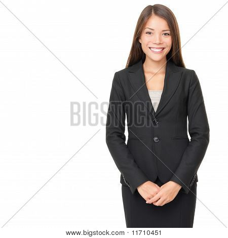 Businesswoman Over White