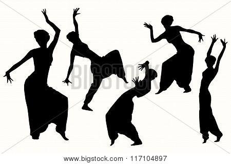 Indian dancing girl.