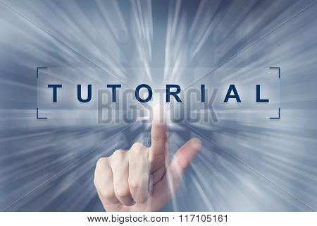 Hand Clicking On Tutorial Button