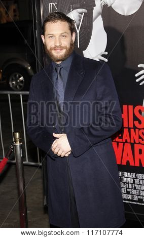Tom Hardy at the Los Angles Premiere of