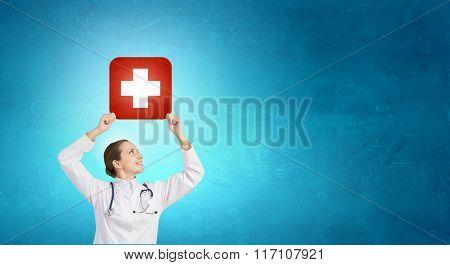 Medicine cross symbol