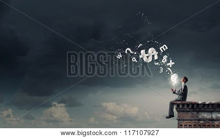 Man making calls with his mobile