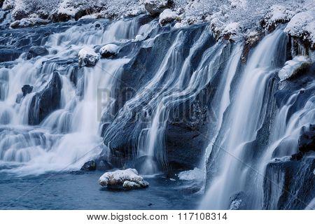 The Waterfall Hraunfossar