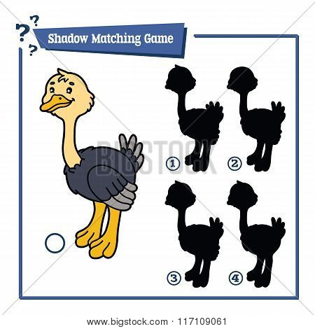 funny shadow ostrich game.