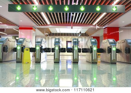 Metro Station Brake Machine Turnstile Gate